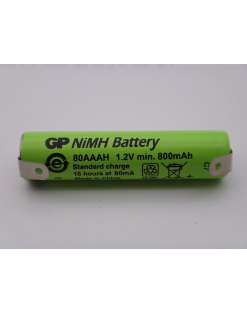 Acumulator GP 80AAAH 1.2V Ni-Mh 800mAh R3 AAA cu lamele pentru lipire