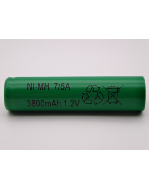 Acumulator 1.2V Ni-Mh 3800mAh 7/5A cu lamele pentru lipire