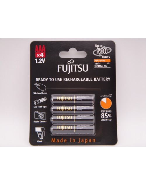 Acumulatori Fujitsu AAA HR03 1.2V Ni-MH 950mAh ready to use HR-4UTHCEX-4B