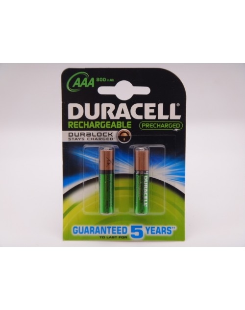 Duracell 800mAh acumulatori HR03 Ni-Mh AAA 1.2V ready to use DC2400 Duralock