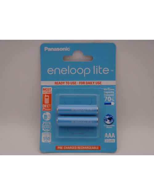 Acumulatori Panasonic Eneloop LITE HR03 AAA 550mAh 1,2V telefon dect blister 2 BK-4LCCE/2BE