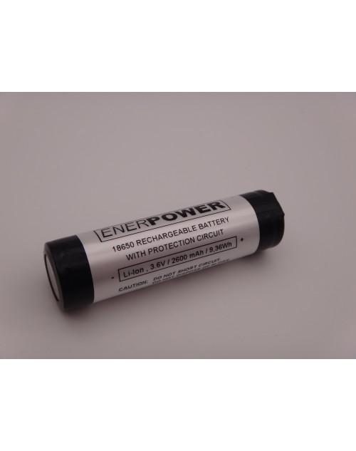 Enerpower acumulator Samsung ICR18650 cu protectie PCB 5A Li-Ion 3.6V 2600 mAh