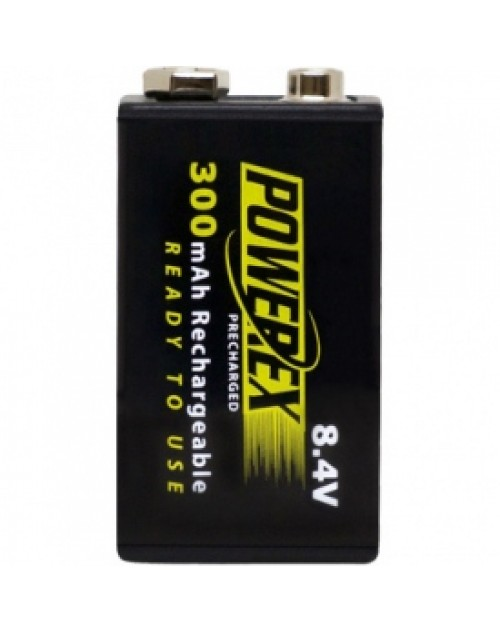 Maha Powerex 300mAh, acumulator Ni-Mh ready to use, tip 9V, blister 1