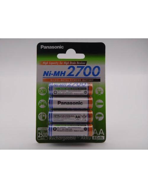 Panasonic acumulatori AA, HR6, 2700mAh Ni-Mh 1.2V blister 4