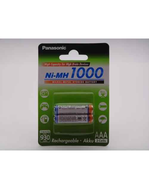Panasonic acumulatori HR03 AAA 1000mAh Ni-MH, blister 2 BK-4HGAE
