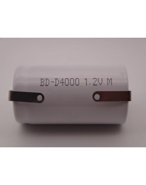 Acumulator industrial R20 D Ni-Cd 1.2V 4000mAh pentru sistemele cu iluminat de urgente