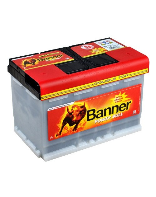 Banner 12V 77Ah 680A baterie auto Power Bull Professional cod PRO P7740