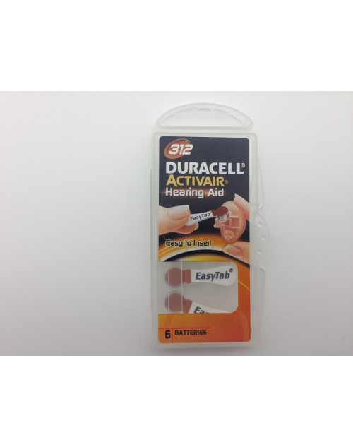 Duracell 312, PR41, 1.45V baterie auditiva blister 6 pentru aparate auditive
