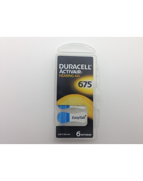 Duracell 675, PR44, 1.45V baterie auditiva blister 6 pentru aparate auditive