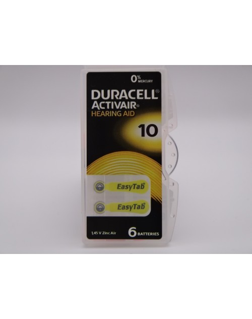 Duracell 10, PR70, 1.45V baterie auditiva blister 6 pentru aparate auditive