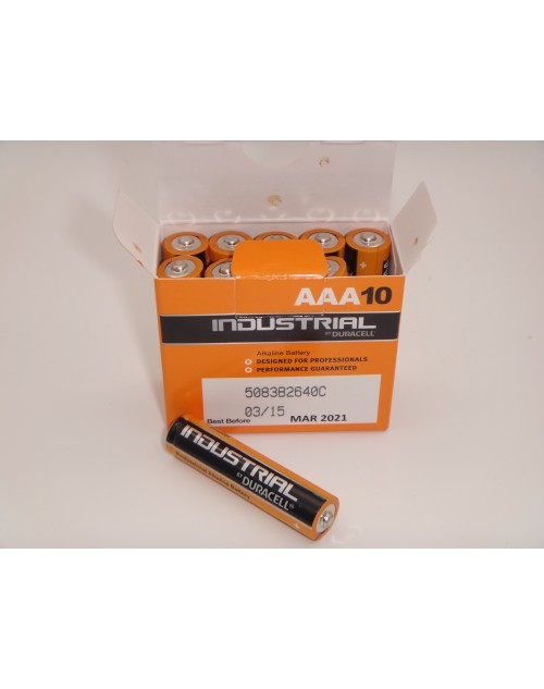 Duracell industrial LR03 AAA baterii alcaline 1.5V cutie 10 bucati