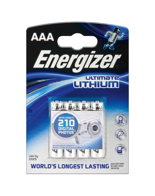 Baterii Energizer Ultimate Lithium R3 AAA, blister 4