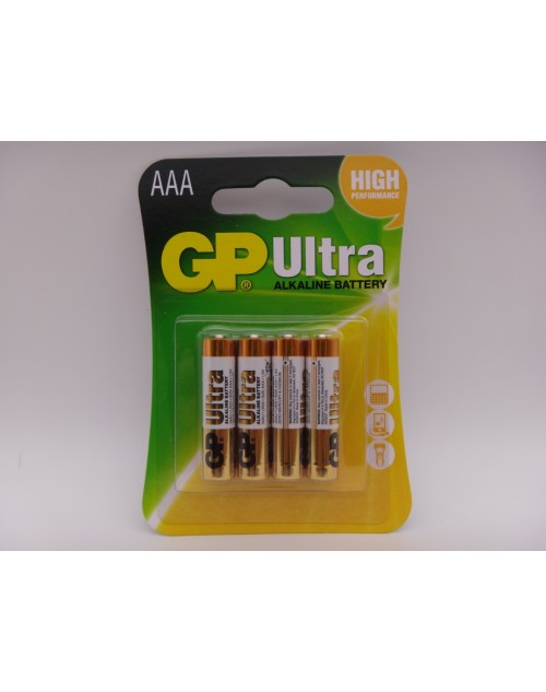 GP AAA LR03 24AU baterii ultra alcaline 1.5V blister 4 GP Batteries