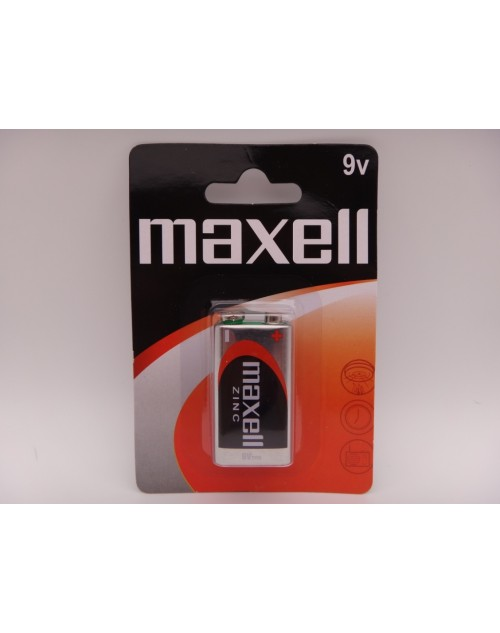 Maxell 9V baterie zinc carbon 6F22 MN1604