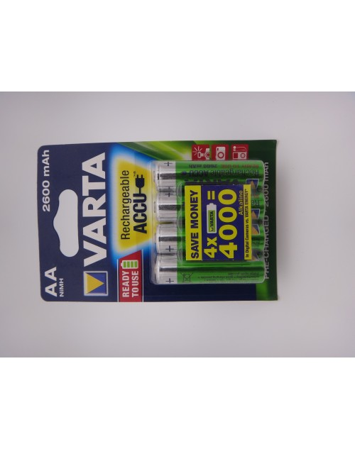 Varta acumulatori HR6 AA 2600mAh Ni-Mh 1.2V ready to use BLISTER 4