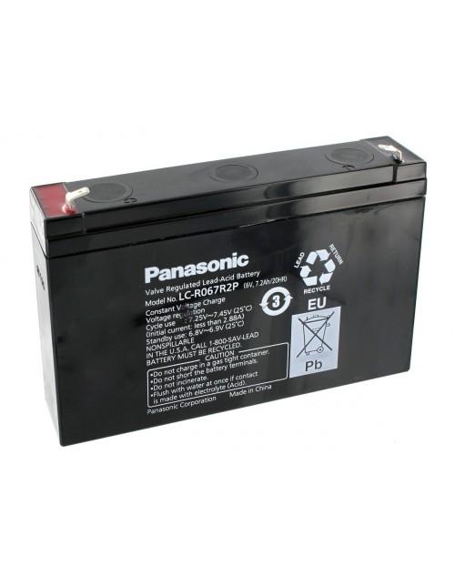Panasonic LC-R067R2P acumulator 6V 7.2Ah 20HR AGM VRLA