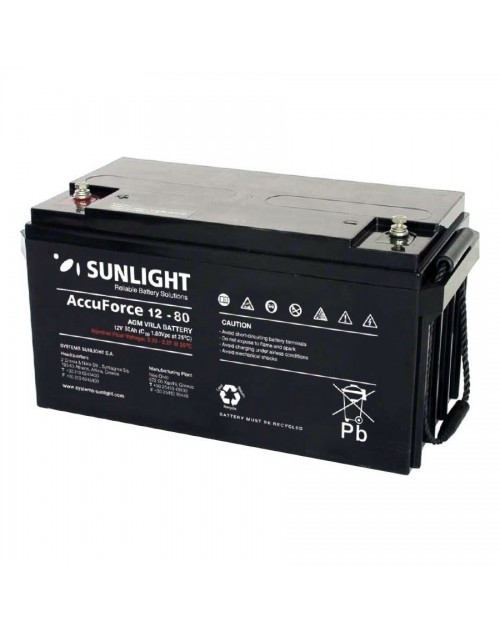 Sunlight 12V 80Ah acumulator AGM VRLA AccuForce 12-80
