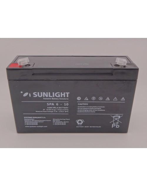 Sunlight 6V 10Ah acumulator AGM VRLA SPA 6 - 10