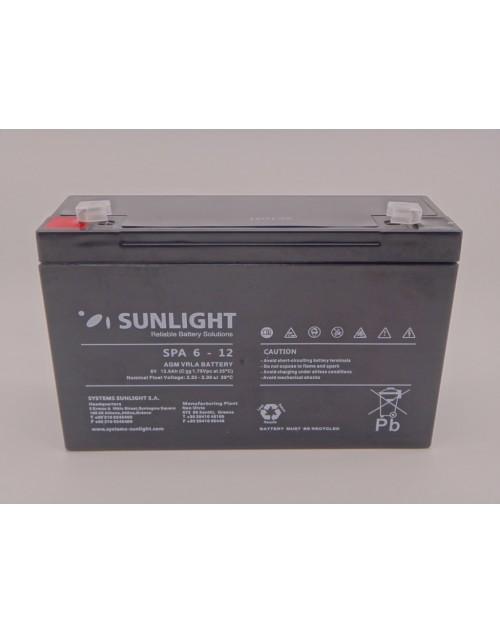 Sunlight 6V 12Ah acumulator AGM VRLA SPA 6 - 12
