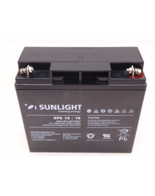 Sunlight 12V 18Ah acumulator AGM VRLA SPA 12-18