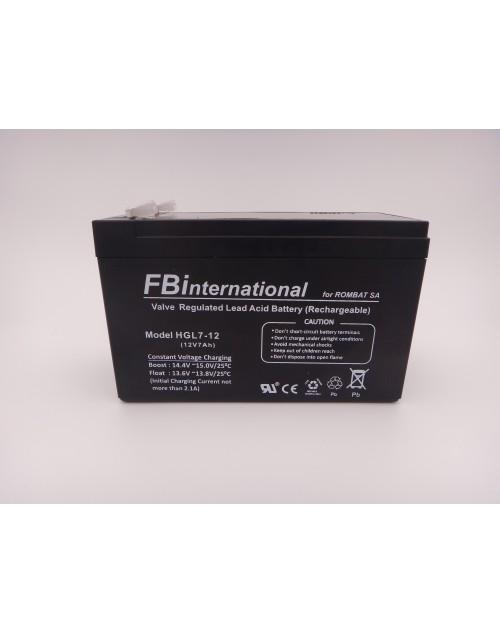 Acumulator 12V 7Ah pentru UPS, alarma, AGM, VRLA FBinternational for ROMBAT