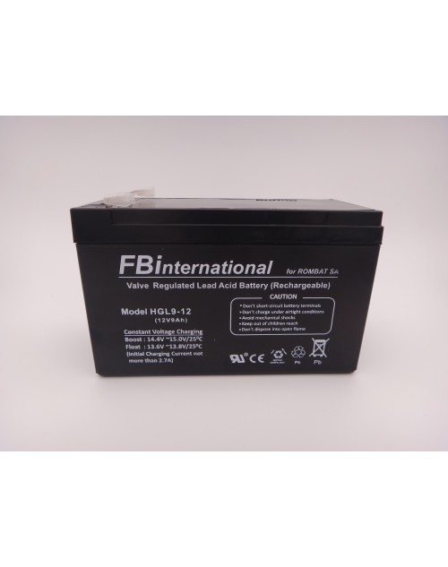 Acumulator 12V 9Ah pentru UPS, alarma, AGM, VRLA FBinternational for ROMBAT