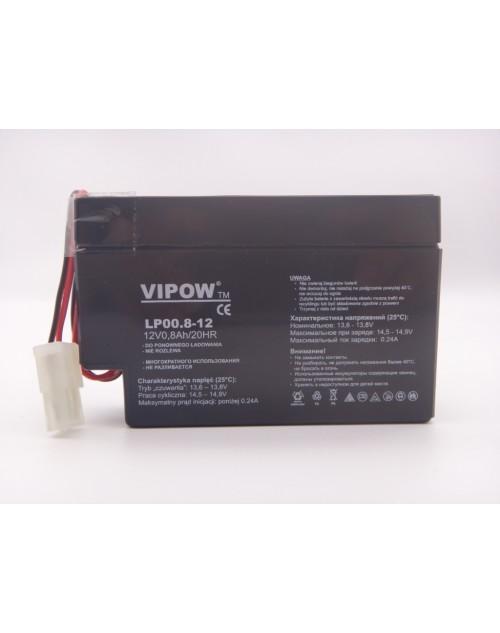 Acumulator 12V 0.8Ah VIPOW 20HR VRLA