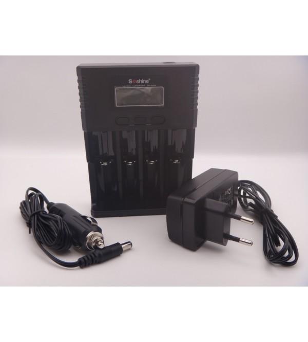 Incarcator Soshine Universal LCD Li-ion/NiMH/LiFePO4 14500 18350 18650 26650 AA AAA C 4 canale