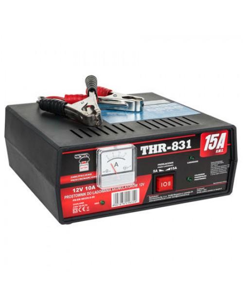 Redresor, incarcator pentru baterii auto 12V - 15Ah THR-831 capacitate 30Ah - 160Ah