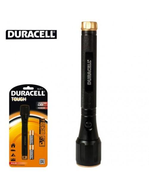 Duracell SLD-1 lanterna led 3W metalica Tough cu 2 baterii x AA R6 incluse