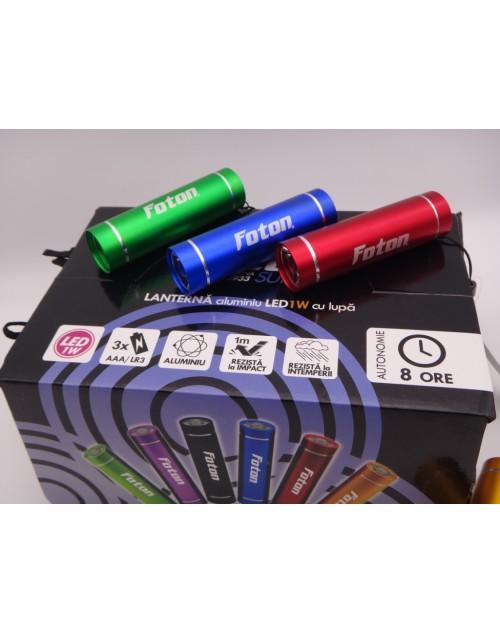 Lanterna Foton Aluminiu LED 3 x AAA 1Watt  cutie 24 bucati