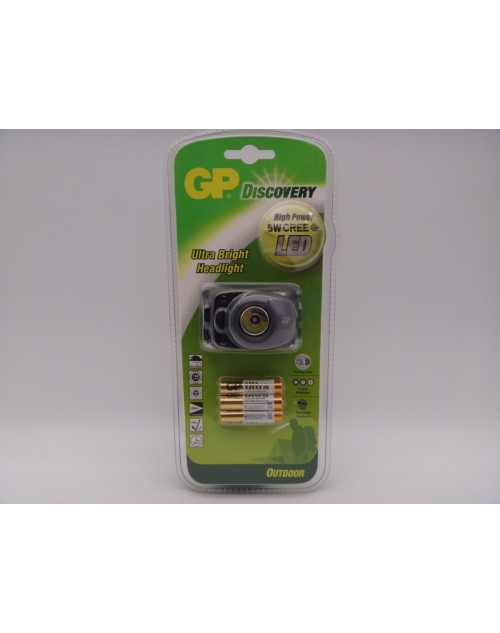 GP discovery lanterna cap cu led 5 watt outdoor headlight GPLOE208