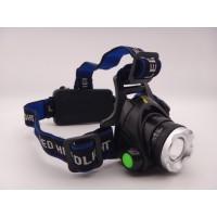 Lanterna frontala cap 1 Led 10W si zoom cu acumulatori inclusi 3.7V 18650 x 2 la 12V / 220V MX-22-T6